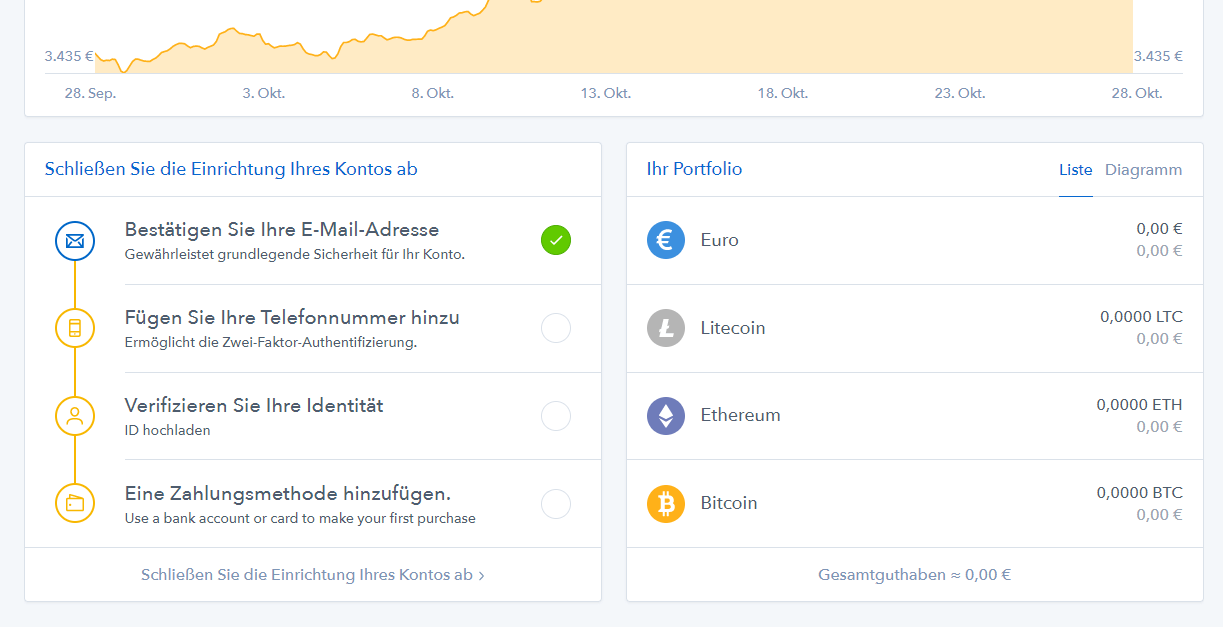 coinbase identität verifizieren