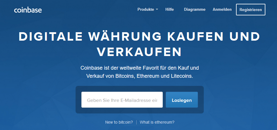 Coinbase Website Screenshot