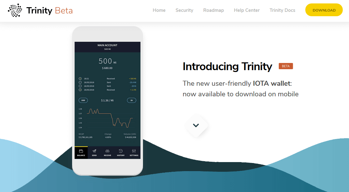 IOTA Trinity Wallet Download Homepage
