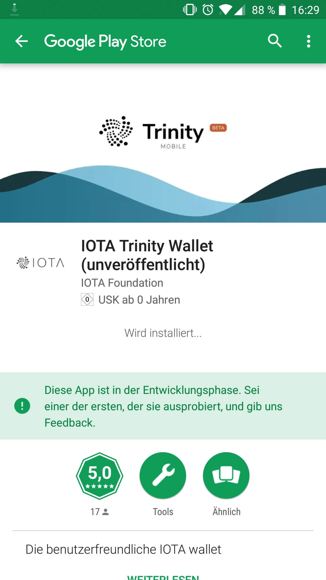 IOTA Trinity Wallet App Screenshot Google Download
